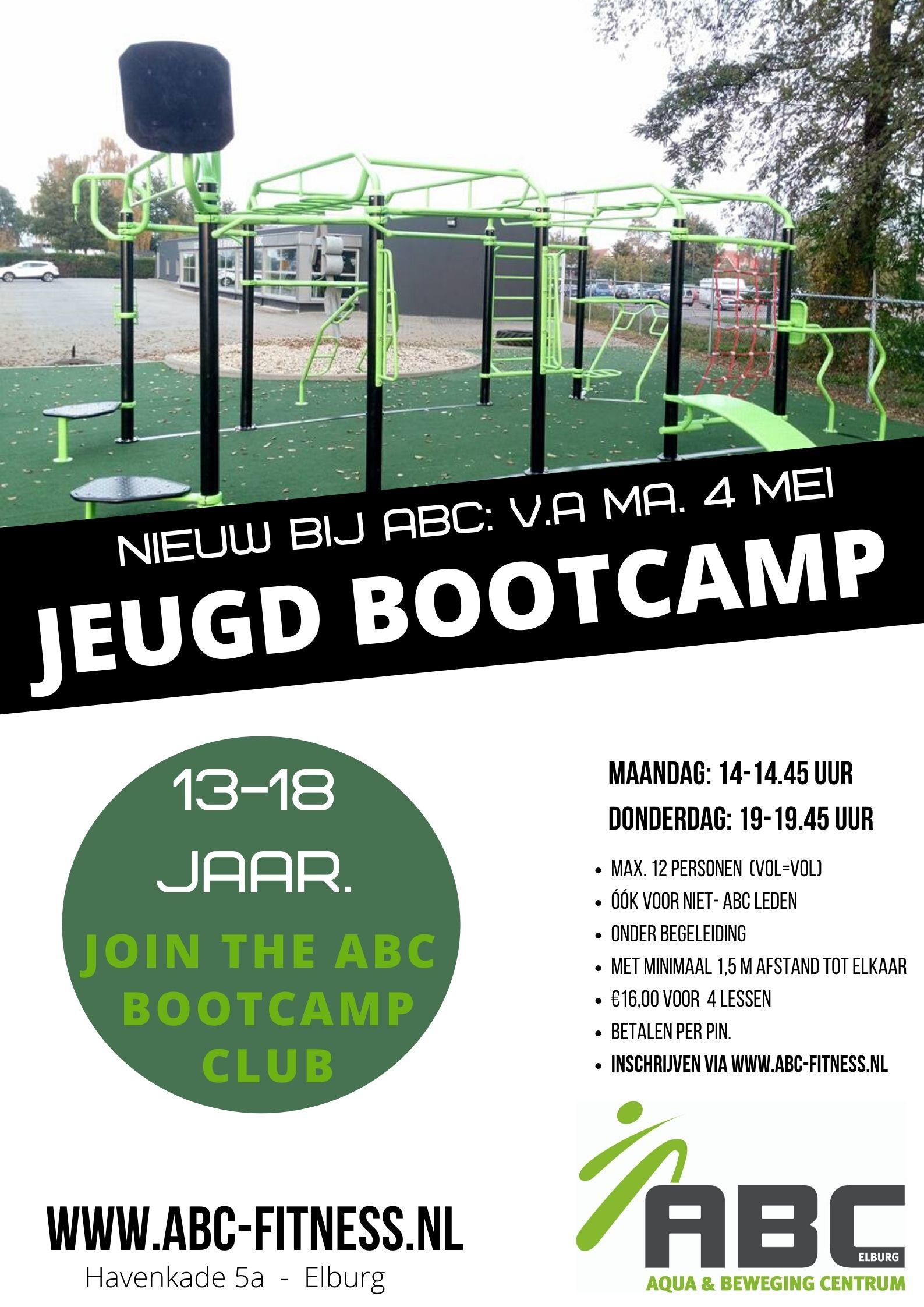 Start nu met jeugd bootcamp bij ABC fitness